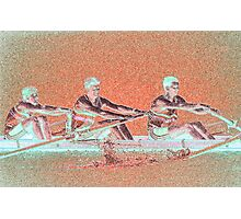 Digital Art Photo of Men's Rowing Team Photographic Print