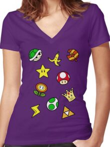 Cup Collection Women's Fitted V-Neck T-Shirt