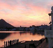Pushkar lake by clochette