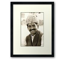 Smiling Face Framed Print