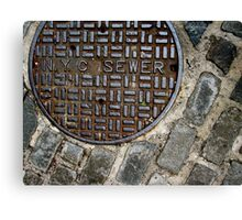 n.y.c. sewer Canvas Print