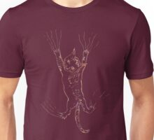 Kitten Scratching Sketch Unisex T-Shirt