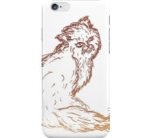 Persian Cat Sketch 2 iPhone Case/Skin