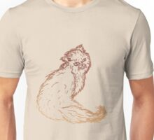 Persian Cat Sketch 2 Unisex T-Shirt