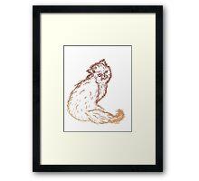 Persian Cat Sketch 2 Framed Print