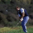 Digital Photo of Male Golfer Swinging a Club by Diane Johnson