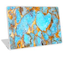 Turquoise and Gold iPhone / Samsung Galaxy Case Laptop Skin