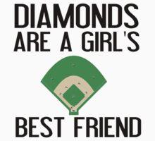 DIAMONDS ARE A GIRL'S BEST FRIEND Kids Tee