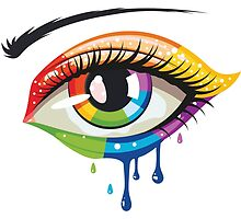 Rainbow Colors Eye by AnnArtshock