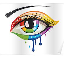 Rainbow Colors Eye Poster