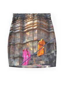 Temple Ladies Mini Skirt