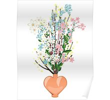 Spring Flowers in a Vase Poster