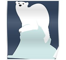 Icebear on melting ice Poster