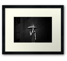 Be for Me, Like Rain Framed Print