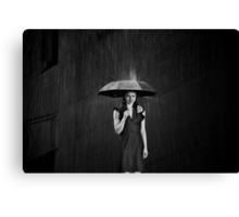 Be for Me, Like Rain Canvas Print
