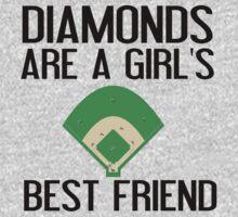 DIAMONDS ARE A GIRL'S BF Kids Tee