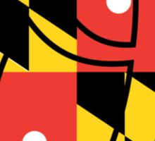 Baltimore Letter O with Maryland Flag Sticker