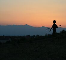 Roma Boy, Rahovec, Kosovo by Christopher Bobyn