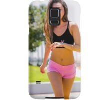 Young teen sportswoman jogging in the park  Samsung Galaxy Case/Skin