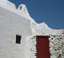 Red Door, Mykanos, Greece by Christopher Bobyn