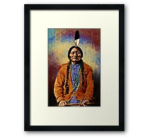 Native American 2 Sitting Bull Framed Print