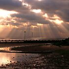 eastbeach sun set by lurch