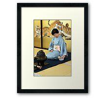 Tea Time Tigers Framed Print