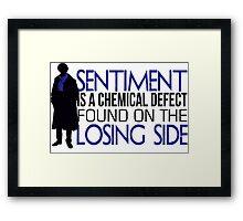 Sentiment Framed Print