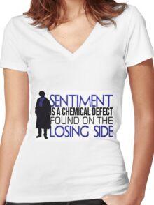 Sentiment Women's Fitted V-Neck T-Shirt
