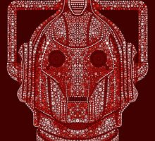 Snowflake Cyberman - Berry Red by ifourdezign