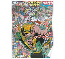Vintage Comic Iron Fist Poster