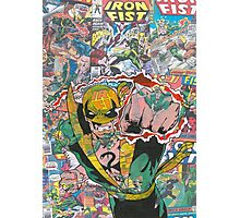 Vintage Comic Iron Fist Photographic Print