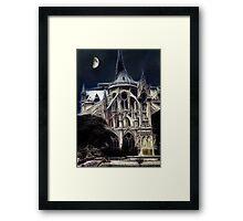 Notre Dame Cathedral back Framed Print