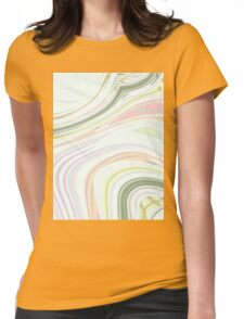 spring fashion mint green Pastel pink swirls Womens Fitted T-Shirt