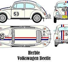 Herbie Volkswagen Beetle by Tiltedgiraffes