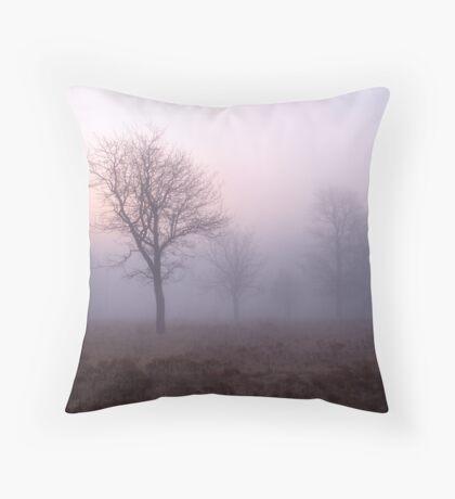 Pink Fog Throw Pillow