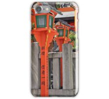 Orange Lanterns And Stone Fence iPhone Case/Skin