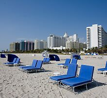Recliners on South Beach by John Bergman