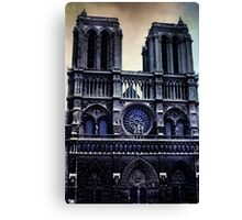 Vintage Notre Dame Cathedral Dark Canvas Print