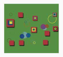 Colorful Box and Circle Art Kids Clothes