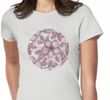 Spring Blossom in Marsala, Pink & Plum Womens Fitted T-Shirt