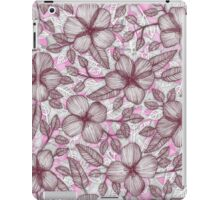 Spring Blossom in Marsala, Pink & Plum iPad Case/Skin