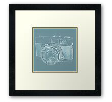 Vintage 35mm Film Camera Blue Pop Art Framed Print