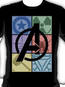 Team Avengers Assemble - Rectangular Design T-Shirt