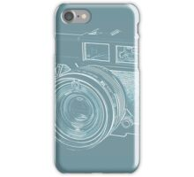 Vintage 35mm Film Camera Blue Pop Art iPhone Case/Skin