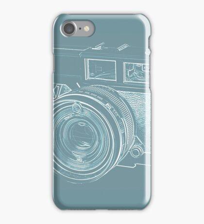 Vintage 35mm Film Camera Blue Pop Art iPhone Case/Skin