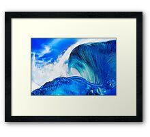 Sapphire Blue Ocean Wave Framed Print