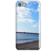 Lyme Regis beach on a lovely spring day iPhone Case/Skin