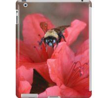 Bumble Bee  On Red Azalea iPad Case/Skin