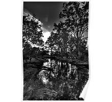 Reflections In Black & White - Wonga Wetlands , Albury NSW - The HDR Experience Poster